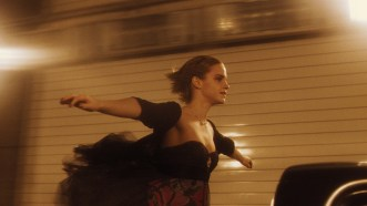 "Emma Watson in the Fort Pitt Tunnel during filming of ""The Perks of Being a Wallflower."" (Summit Entertainment)"