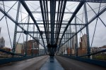 The Smithfield Street Bridge looking north from the middle, as it is crossing the Monongahela River. (Darrell Sapp/Post-Gazette)