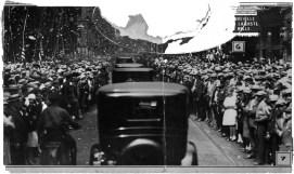 Lindbergh was treated to a ticker-tape parade on Smithfield Street.