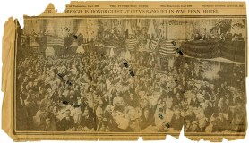 Newspaper clipping from the day after Lindbergh's visit.