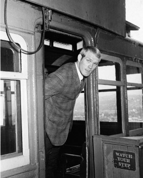 Terry Bradshaw at Duquesne Incline, 1970 (Ed Morgan, Post-Gazette)