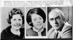Wire photos of Margaret, Charlotte and Joseph Yablonski.