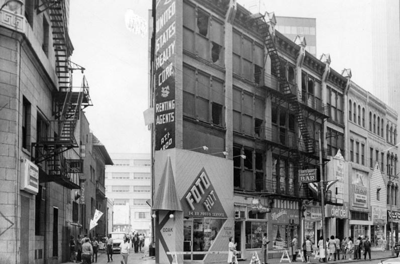 Aftermath of the dynamite explosion on Liberty Ave, July 20, 1973 (Photo by James Klingensmith/ Post-Gazette).