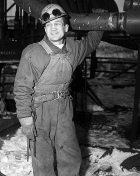 Zivic as a boilermaker at Weirton Steel in 1966. (Photo credit: Unknown)