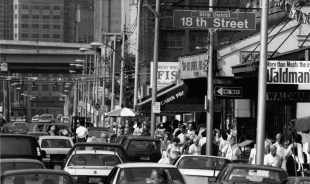 Penn Avenue in the Strip District on a Saturday morning, August 1991. (Callie Shell/The Pittsburgh Press)