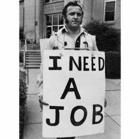 George Mineard of Ohioville needed a job in May 1984. (James Klingensmith/Post-Gazette)