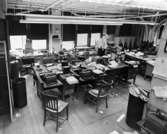 Another view of the newsroom in 1960. (Photo credit: Unknown)
