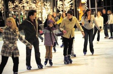 A family of skaters in 2009. (John Heller/Post-Gazette)