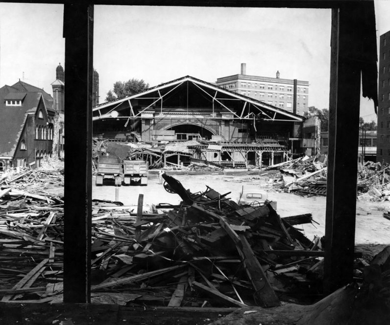 Demolition was nearly complete in September 1956. (Post-Gazette photo)
