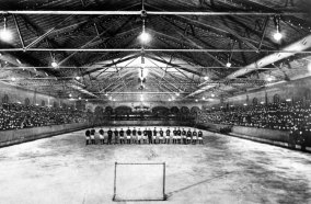 The ice rink, prepared for hockey in 1901. (Photo credit: Unknown)