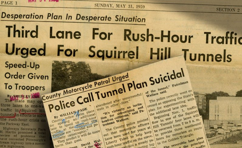 Newspaper coverage of the proposal to create a third lane.