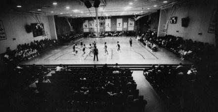 Jan. 5, 1988: The North Catholic gym also serves as its auditorium. (Mark Murphy/Post-Gazette)