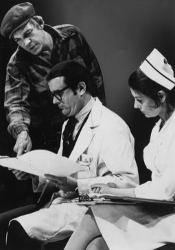 """Oct. 23, 1975: A first-season production of """"One Flew Over the Cuckoo's Nest,"""" with Tom Atkins, Tony Alward and Carol Mayo-Jenkins. Mr. Atkins is a Pittsburgher with an active Hollywood career."""