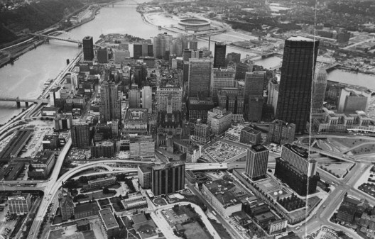 Aug. 9, 1972: View of Downtown Pittsburgh and the Golden Triangle. (Stewart Love/The Pittsburgh Press)