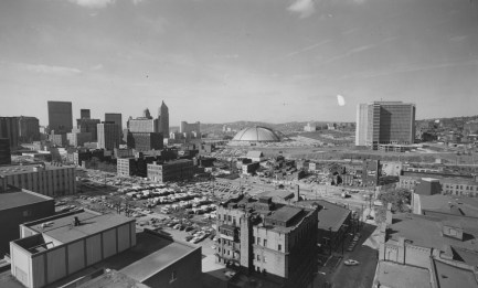 Feb. 9, 1969: A view of Pittsburgh from Duquesne University and its Administration Building. (Pittsburgh Press photo)