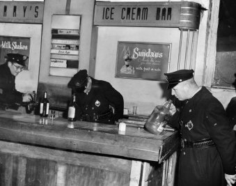 Palmer and other officers found moonshine in this ice cream shop. (Stewart Love/The Pittsburgh Press)