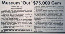 This was the front-page Pittsburgh Press story about the theft Kurt Fischer read in July 1981.