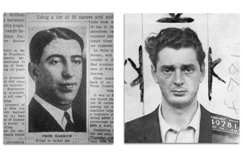 The unfortunate Garrow (left) and Evans.