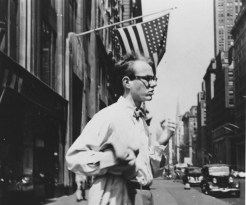 1949: Warhol in New York City. (Credit: Philip Pearlstein)