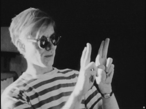 Still of Andy Warhol from Scenes in the Life of Andy Warhol. (Credit: Courtesy of Anthology Film Archives)
