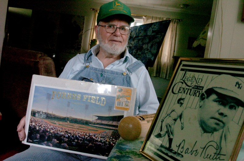 Paul Warhola, 83, of Smock, Fayette County, witnessed Babe Ruth hit his final three major league home runs on May 25, 1935 when he was 12. He was an older brother of Andy. (Lake Fong/Post-Gazette)