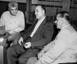 July 12, 1950: Detective James J Scoide, Dominico Omogrosso, Detective Al Mumpfer (Credit: Unknown)