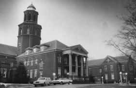 Feb. 10, 1983: Entrance to Woodville State Hospital. (Mark Murphy/Post-Gazette)