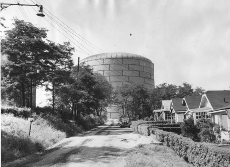 Sept. 12, 1953: A new water tank in West Mifflin, filled with 7.5 million gallons. (The Pittsburgh Press)