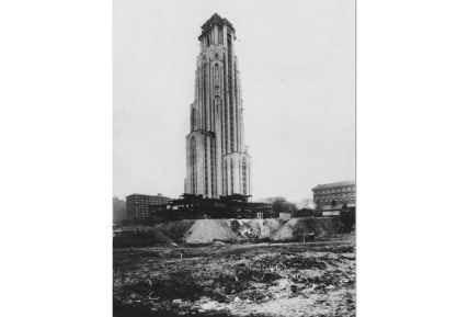 1935: The Cathedral of Learning nearly completed. (The Pittsburgh Press)