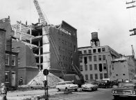 This June 1960 photo by PG photographer Morris Berman shows the destruction of the store.