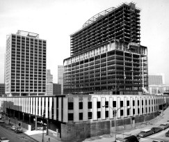 Feb. 6, 1966: Chatham Center nears completion. The apartment tower is on the left. (Handout photo)