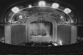 This 1991 image shows the interior of the restored Fulton Theater, which reopened in 1991 and was renamed the Byham Theater in 1995.