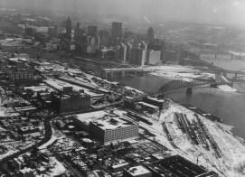 Jan. 18, 1964: The North Side before its redevelopment as a sports destination. (Don Bindyke/Post-Gazette)