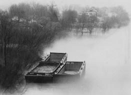 Feb. 19, 1981: Fog on Neville Island in the Ohio River. (Darrell Sapp/Post-Gazette)