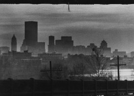 Nov. 30, 1978: Morning fog, seen here, often makes the city appear as if it's already the evening. (Harry Coughanour/Post-Gazette)