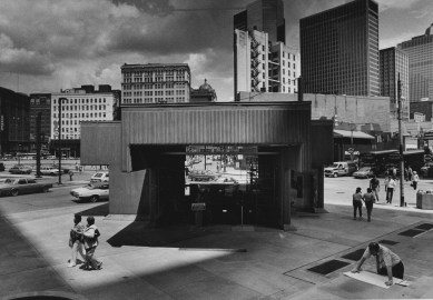 June 21, 1985: The completed Gateway Center station. (Tony Tye/Post-Gazette)