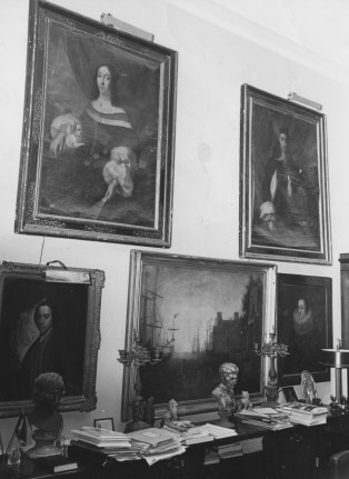 Congressman James G. Fulton's office in Washington doubled as an art gallery.
