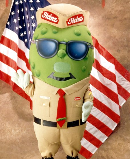 Private Pickle's mission is to promote a sense of community among military families. He was the first-ever American military product mascot, touring U.S. and European bases, 1998