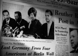 Post-Gazette coverage of the release of four Americans from East Germany in 1967.