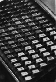 Shot in 1986, this photo features a vision of the future: the keyboard of a linotype machine. (Thomas Ondrey/The Pittsburgh Press)