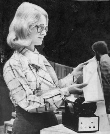 """From 1977, this cute but powerful new printer was just the """"size of a coffee can."""" According to the company, it would soon find wide use aboard aircraft and vehicles. (Post-Gazette)"""