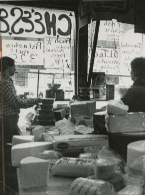 The cheese counter in Pennsylvania Macaroni CO in March of 1987, where Carol 'Dearheart' Pascuzzi began working in 1984. (John Beale/Post Gazette)