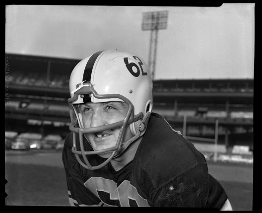 Offensive lineman and tavern owner Mike Sandusky was with the Steelers through the 1965 season.
