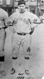 Rooney as a North Side baseball player in 1929.