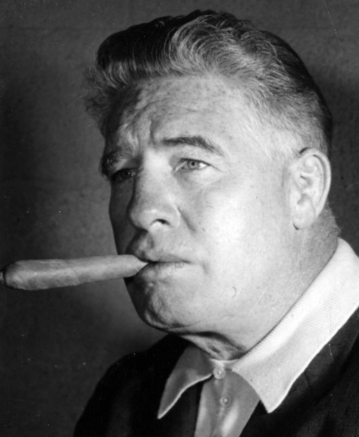 Rooney with his famous stogie in 1957.