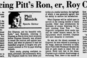 Introducing ... Ron Chipman.