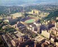 Pitt Stadium and Oakland. (Stewart Love/The Pittsburgh Press)