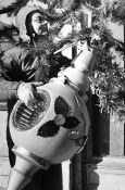 The holiday season came to an end in 1976 and John Wiles of Irwin was busy in January of '77 taking down the tree. Mr. Irwin did his job on one of the coldest days of the year with the day starting at a teeth-chattering -2 and warming up to only 8 above zero. (Dale Gleason/The Pittsburgh Press)