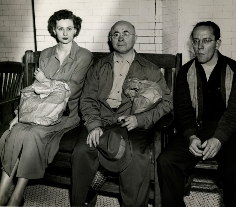 Alda Grazer Arnold (left) and others who were aboard the trolley when it was struck by lightning.