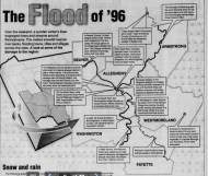 Map of the flood in the Post-Gazette.